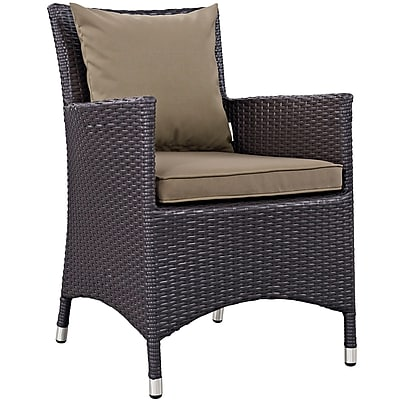Convene 2 Piece Outdoor Patio Dining Set in Espresso Mocha (889654055396)