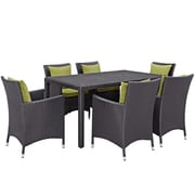 Modway Convene 7 Piece Outdoor Patio Dining Set in Espresso Peridot (889654062776)