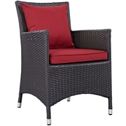 Convene 2 Piece Outdoor Patio Dining Set in Espresso Red (889654055426)