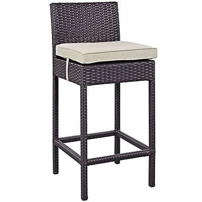Convene 4 Piece Outdoor Patio Pub Set in Espresso Beige (889654061236)