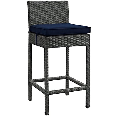 Sojourn 2 Piece Outdoor Patio Sunbrella® Pub Set in Canvas Navy (889654060253)