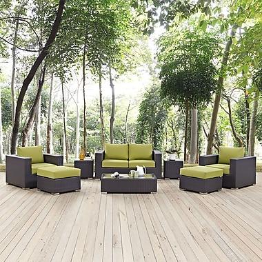 Convene 8 Piece Outdoor Patio Sofa Set in Espresso Peridot (889654044611)