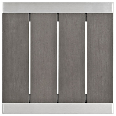 Shore Outdoor Patio Aluminum Side Table in Silver Gray (889654064695)