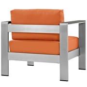 Shore Outdoor Patio Aluminum Armchair in Silver Orange (889654065067)