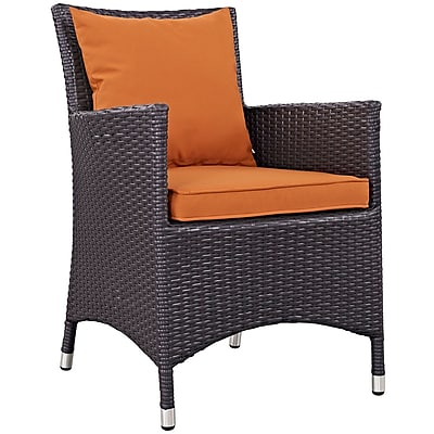 Convene 8 Piece Outdoor Patio Dining Set in Espresso Orange (889654055808)