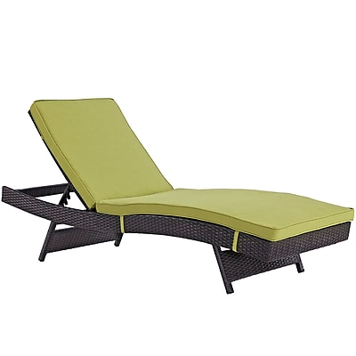 Convene Chaise Outdoor Patio Set of 4 in Espresso Peridot (889654078371)