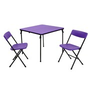 Cosco 2 Piece Center Fold Table and 2 Chairs Purple (37334PNB1E)