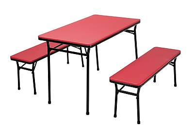 Cosco Table and 2 Bench Set Red (37331RBK1E)
