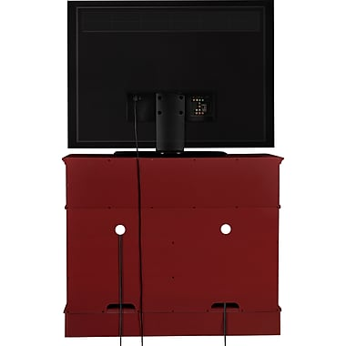 Altra Ryder Wood TV Stand/Media Cabinet Red Finish (1752196PCOM)
