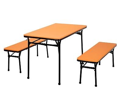 Cosco Table and 2 Bench Set Orange (37331ONB1E)