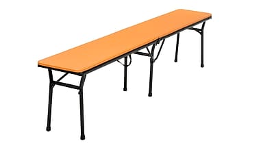Cosco Bench Steel Frame Center Fold Steel Frame Orange (14416ONB2E)