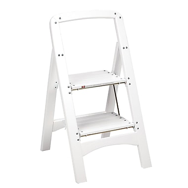 Cosco 2 Step Wooden Step Stool in White (11254WHT1)