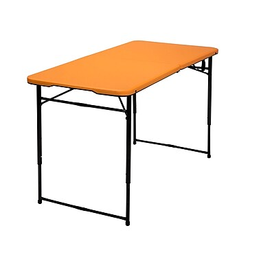 Cosco Adjustable Height Center Fold Table Orange (14402ONB1E)