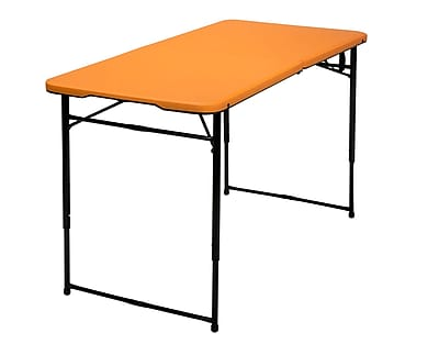 Cosco Adjustable Height Center Fold Table Orange (14402ONB1E)