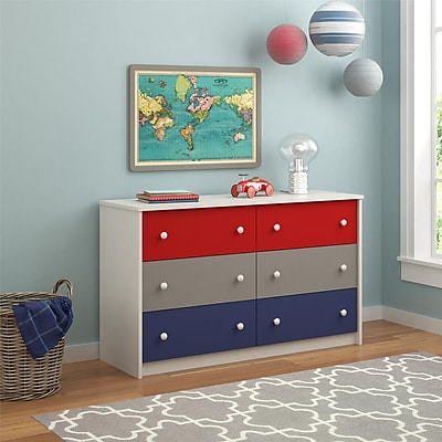 Cosco Kaleidoscope 6 Drawer Dresser, Classic (5889500PCOM)