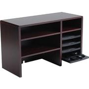 Safco Wooden Desktop Organizer, Mahogany (3692 MH)