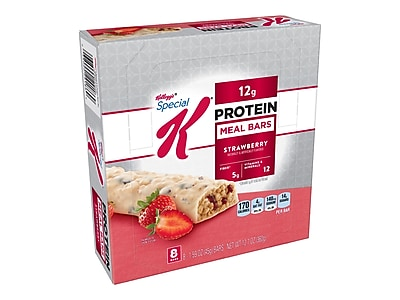 Kellogs Special K Protein Bars, Strawberry, 1.59 Oz., 8/Box (29185)