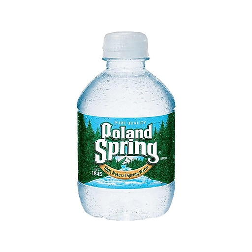 f639b6fc6a Poland Spring 100% Natural Spring Water, 8-ounce Plastic Bottle, 48/Case |  Staples