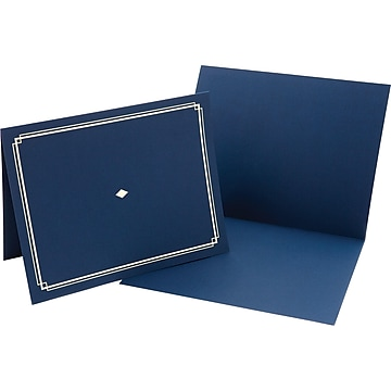 Gartner Studios Certificate Holders, Blue/Gold, 6/Pack (35005)