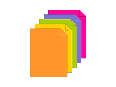 Staples 862248 Brights Cardstock Paper 65 Lbs 8.5 X 11 Bright Blue 250//Pk