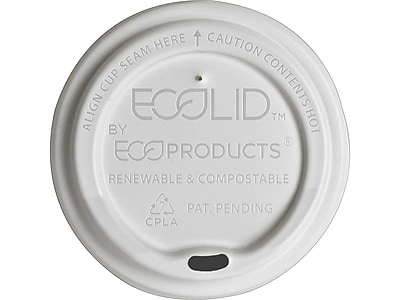 Eco-Products EcoLid Lids, White, 800/Carton (EP-ECOLID-W)