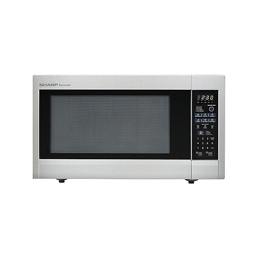 Sharp 2 Cu Ft Mid Size Countertop Microwave Oven With 16 Turntable 1100 W Stainless Steel Staples