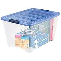 Deals on IRIS Stack & Pull 54 Qt. Latch Lid Storage Box