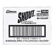 Shout Stain Remover Wipes, 80/Box (686661)