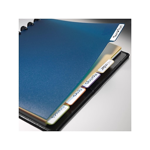 """Staples® Arc System Tab Dividers, Assorted Colors, 9"""" X 11"""