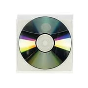 Smead Adhesive Holders for CD/DVD, Clear Polypropylene/PP, 10/Pack (68144)