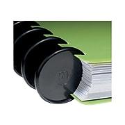 "Staples Arc System 1-1/2"" Notebook Expansion Discs, Black, 12/Pack (20774)"