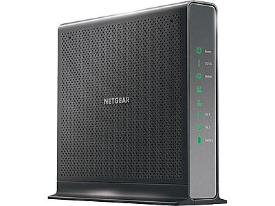 Netgear Nighthawk C7100V-100NAS Dual Band Wireless and Ethernet Router, Black
