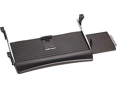 Fellowes Office Suites Adjustable Keyboard Drawer, Black (9140303)