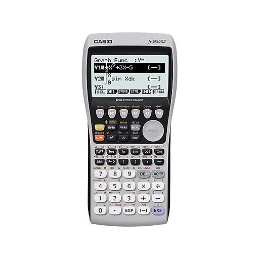 Casio FX-9860GII 10-Digit Graphing Calculator, Gray