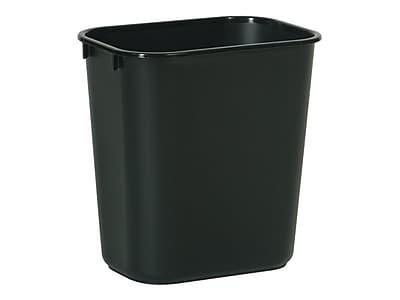 Rubbermaid Indoor Trash Can, Black Plastic, 3.25 Gal. (FG295500BLA)