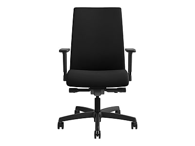 Genial HON Ignition Fabric Executive Office Chair, Adjustable Arms, Black  (HONIW104CU10) | Staples