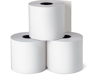 """Staples Thermal Paper Rolls, 2 1/4"""" x 165', 3/Pack (21267/18220)"""