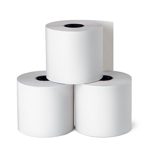 "Staples Thermal Paper Rolls, 2 1/4"" x 165', 3/Pack (21267/18220)"