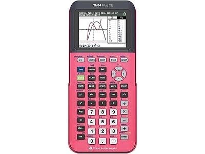 Texas Instruments TI-84 Plus CE 84PLCE/TBL/1L1/P 10-Digit Graphing Calculator, Pink