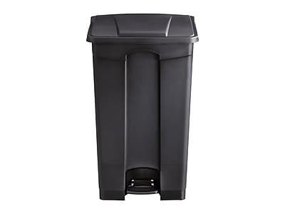 Safco Indoor Step Trash Can, Black Plastic, 23 Gal. (9923BL)