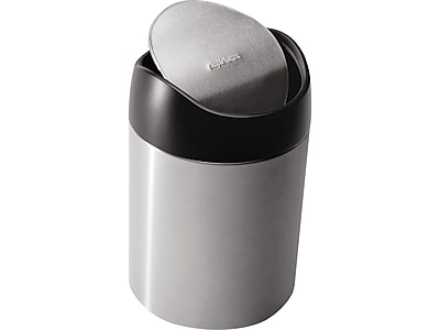 simplehuman Countertop Trash Can, Brushed Stainless Steel, 0.4 Gal. (CW1637CB)