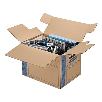 "Bankers Box Smoothmove 17.25"" x 12.38"" x 12.63"" Moving Boxes, Kraft, 10/Bundle (0062701)"