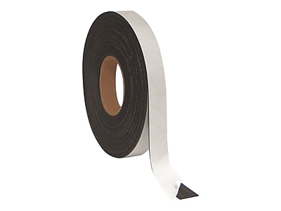 """MasterVision Magnetic Tape, 1/2""""W x 2.33 yds., Black (FM2319)"""