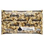 Hershey's KISSES, Milk Chocolate With Almonds, 66.7 Oz. (HEC62083)