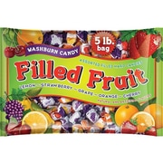 Washburn Filled Fruit Hard Candies, Orange/Lemon/Strawberry/Cherry/Grape, 80 Oz. (55/22071)