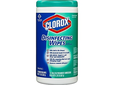 Clorox Disinfecting Wipes, Fresh, 75/Pack (15949)
