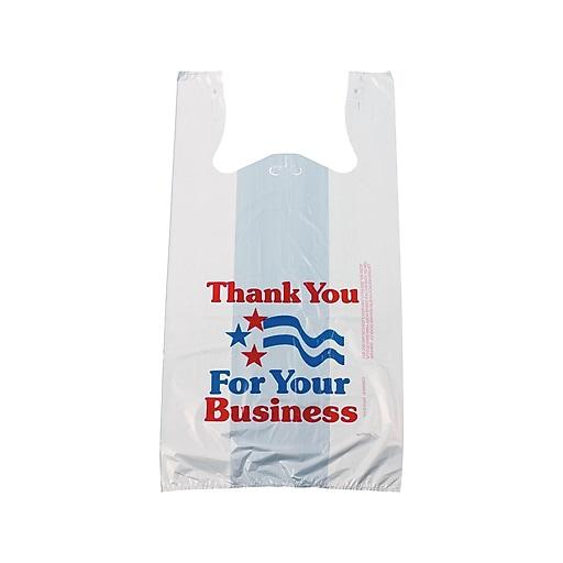 23669acd Staples Pre-Printed T-Shirt Bags,