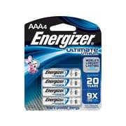 Energizer Ultimate Lithium Battery, AAA, 4 Pack (L92BP/SBP-4)