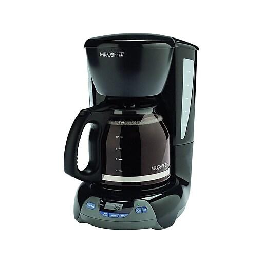 Mr Coffee 12 Cup Programmable Coffeemaker Black Staples