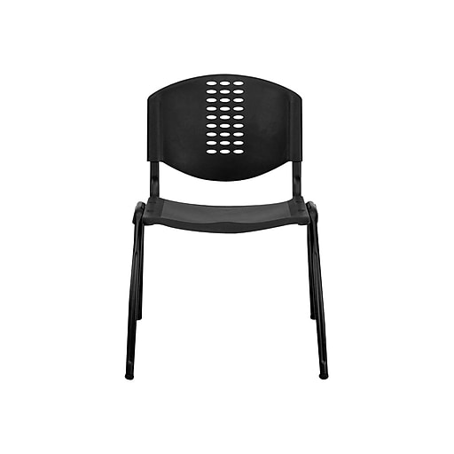 Flash Furniture HERCULES Plastic Office Chair, Black (RUT-NF01A-BK-GG)